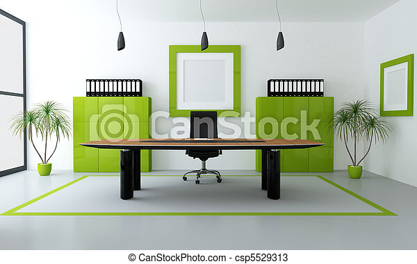 green modern office - csp5529313