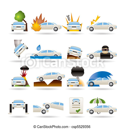car and transportation insurance  - csp5529356