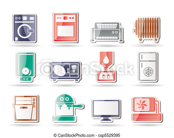 Home electronics and equipment icon - csp5529395