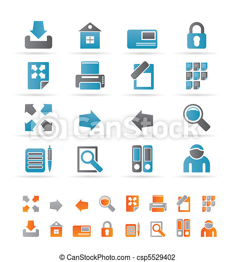 Internet and Web Site Icons - csp5529402