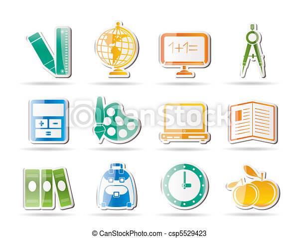 School and education icons - csp5529423