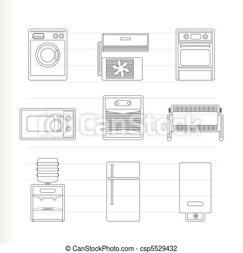 Home electronics and equipment icon - csp5529432
