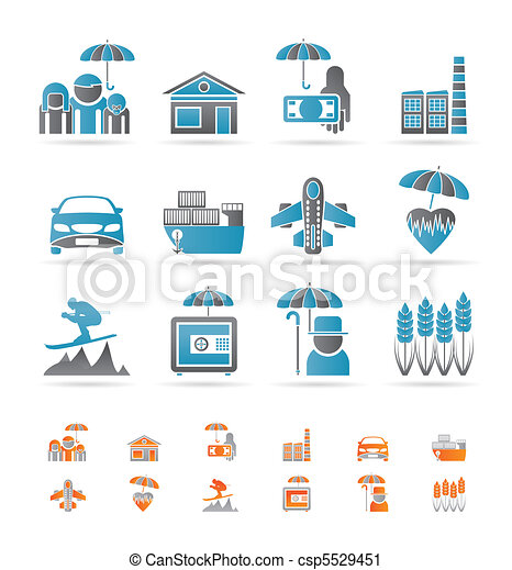 insurance and risk icons - csp5529451