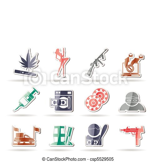 mafia and organized criminality  - csp5529505