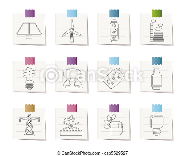 Power, energy and electricity icons - csp5529527