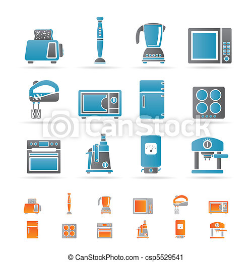 Kitchen and home equipment icons   - csp5529541