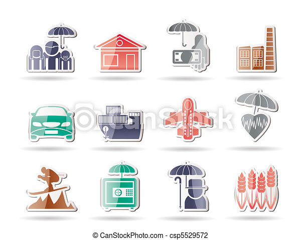 insurance and risk icons - csp5529572