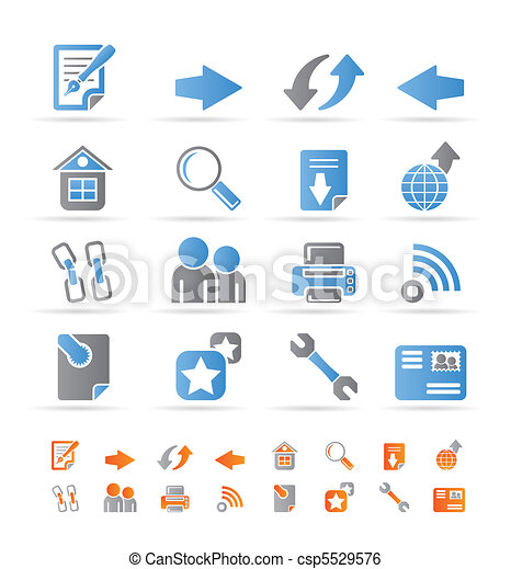 Website navigation and computer  - csp5529576