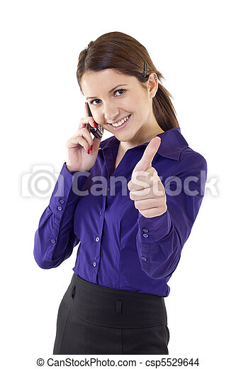 business woman indicating ok sign - csp5529644