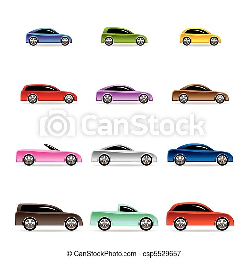 different types of cars icons - csp5529657