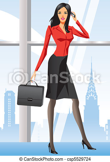 Business woman in office in New Yor - csp5529724