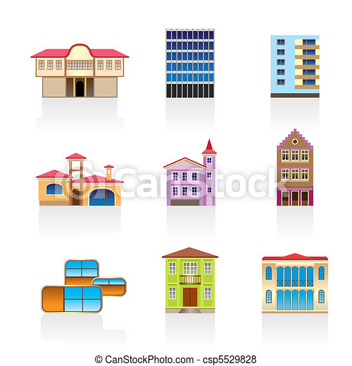 different kind of houses  - csp5529828