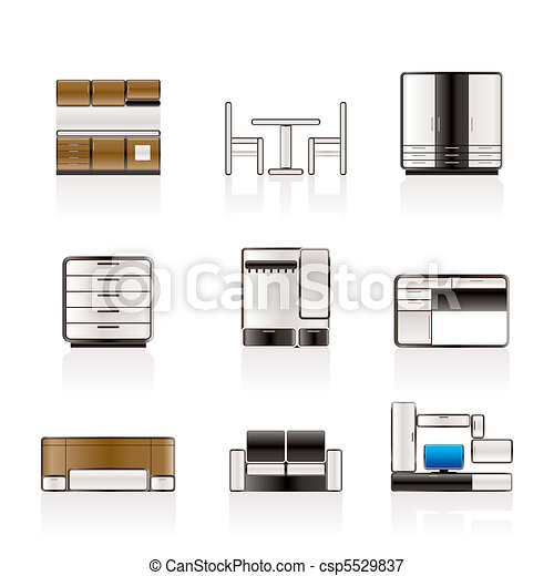 Furniture and furnishing icons - csp5529837