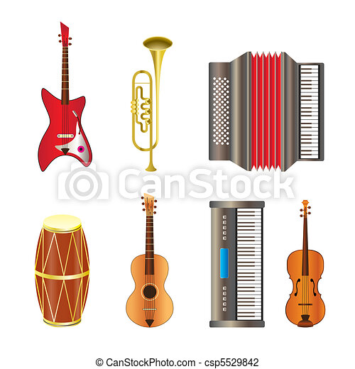 Musical instrument icons  - csp5529842