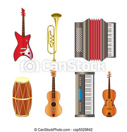 Musical instrument icons  - csp5529842