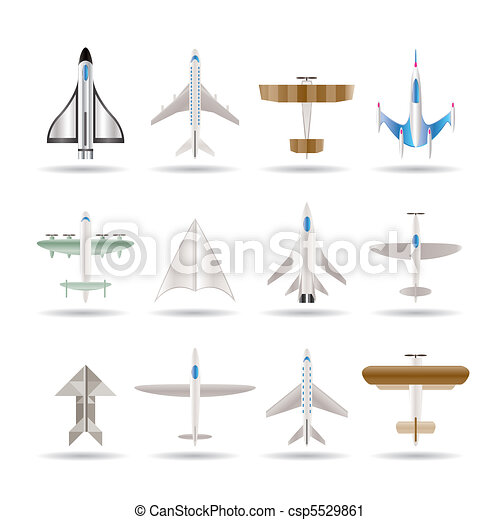 different types of plane icons - csp5529861