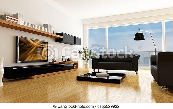 modern living room - csp5529932