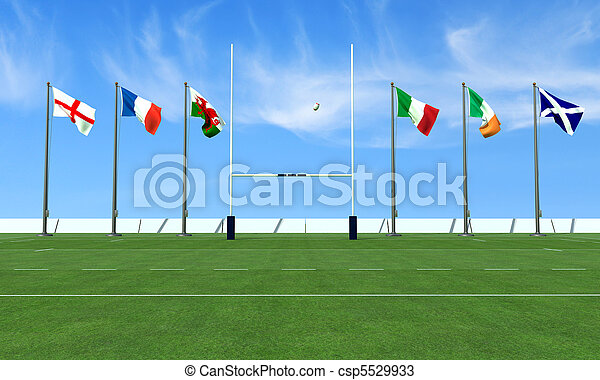 rugby six nations - csp5529933