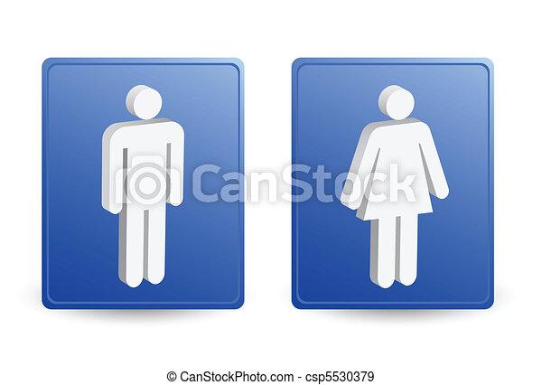 man & ladies symbols - csp5530379