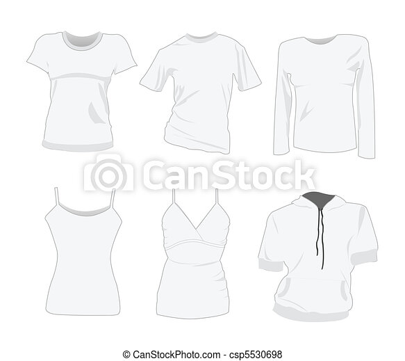 woman t-shirt design templates - csp5530698