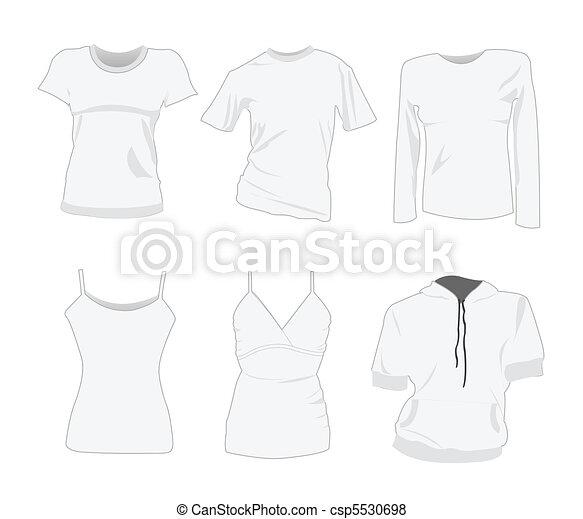 woman t-shirt design templates - csp5530698