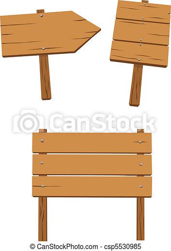 set of wooden sign - csp5530985