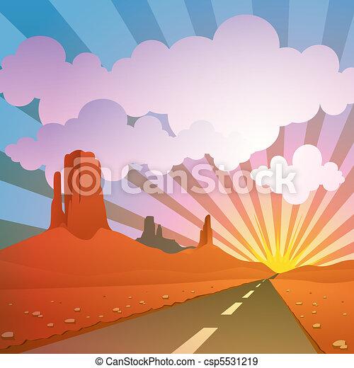 Desert Landscape - csp5531219