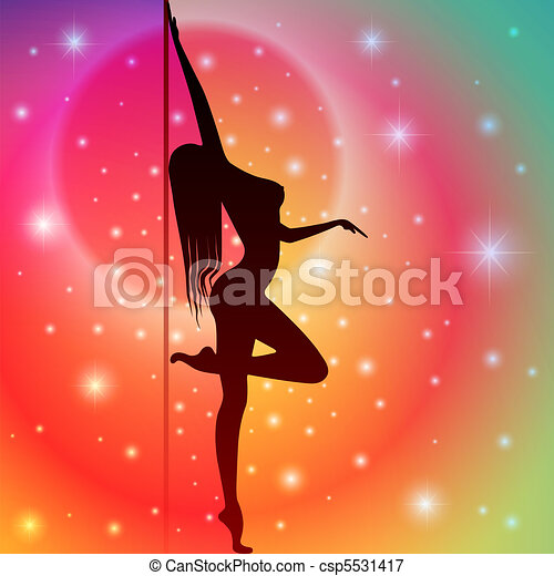 Pole Dancer - csp5531417