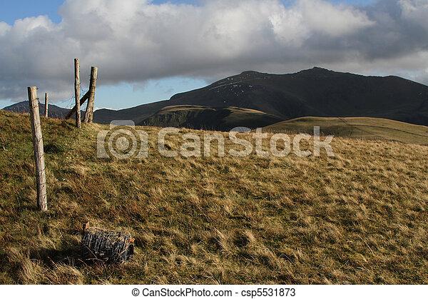 Hillside fencing. - csp5531873