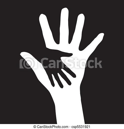 Helping hands. - csp5531921