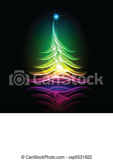 Vector abstract design. Christmas tree. - csp5531922
