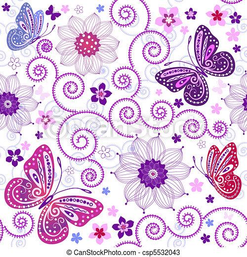 Seamless floral pattern - csp5532043