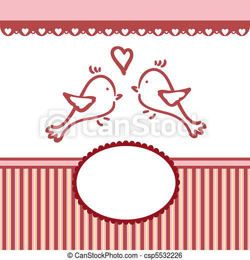 Template for Valentine or Wedding greetings card - csp5532226
