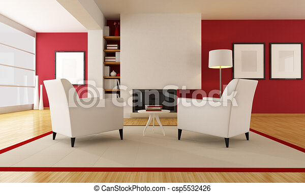 illustration moderne vivant salle chemin e banque d 39 illustrations illustrations libres. Black Bedroom Furniture Sets. Home Design Ideas