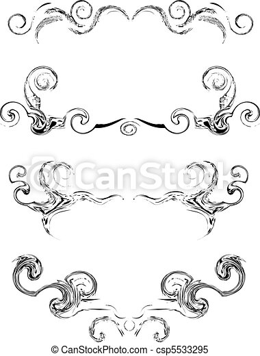 Collection of vector swirl elements - csp5533295