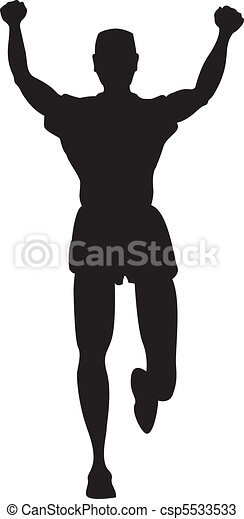 Silhouette of runner or jogger - csp5533533