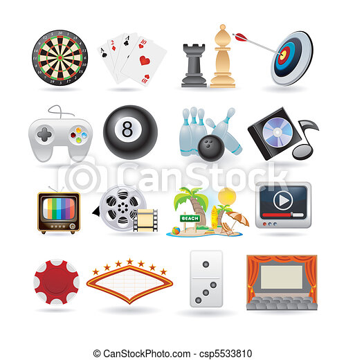 set of entertainment icons  - csp5533810
