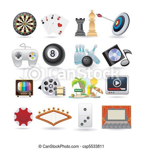 set of entertainment icons  - csp5533811