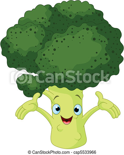Broccoli Presenting Something - csp5533966