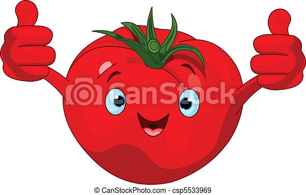 Tomato Character  giving thumbs up - csp5533969
