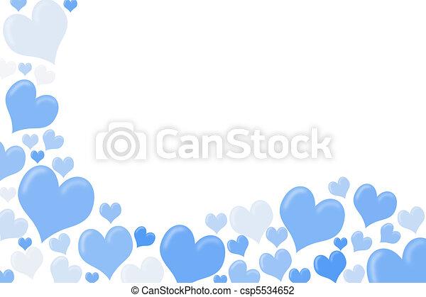Blue Heart Border Clipart