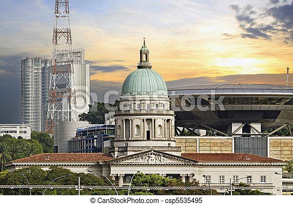 Singapore Parliament Building and Supreme Law Court - csp5535495