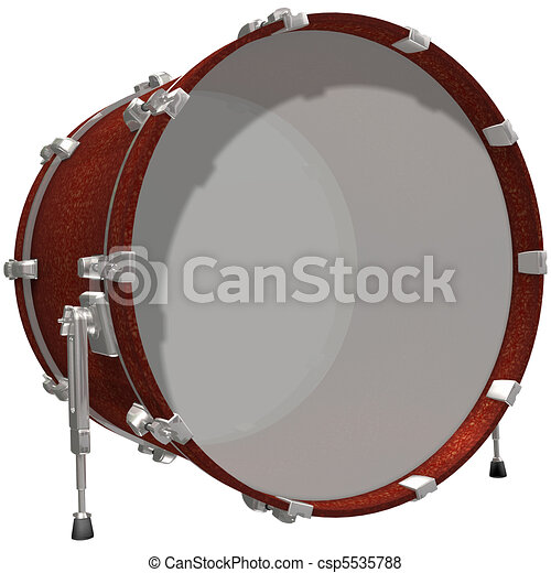 Stock Illustration of Bass Drum isolated on a white ...