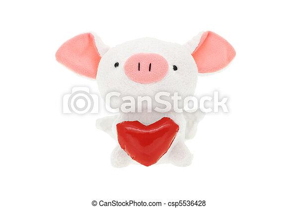 玩具, 軟, 小豬 - csp5536428