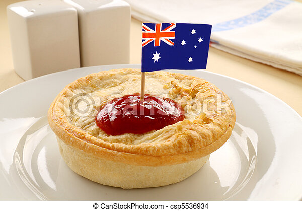 Aussie Meat Pie - csp5536934