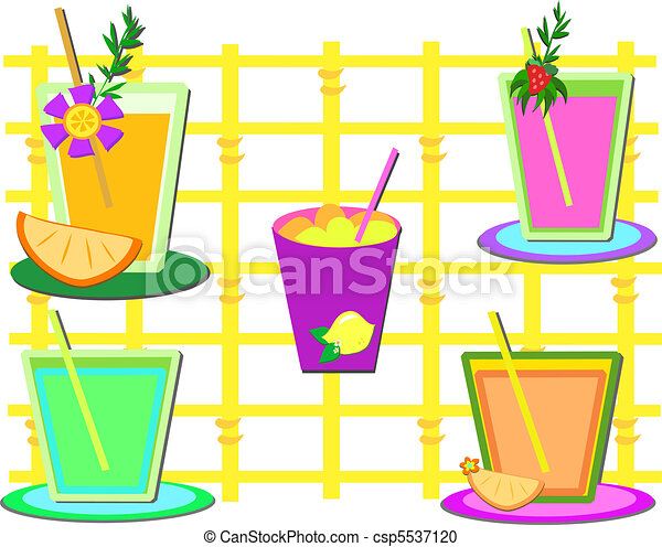 Mix of Sweet Drinks - csp5537120