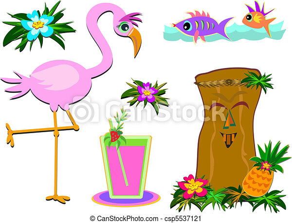 Mix of Humorous Tropical Pictures - csp5537121