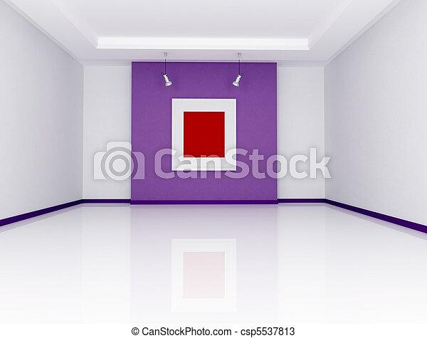 最簡單派藝術家, 美術畫廊 - csp5537813