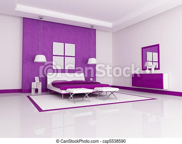 Stock Fotografie van paarse, slaapkamer - paarse, en, witte ...
