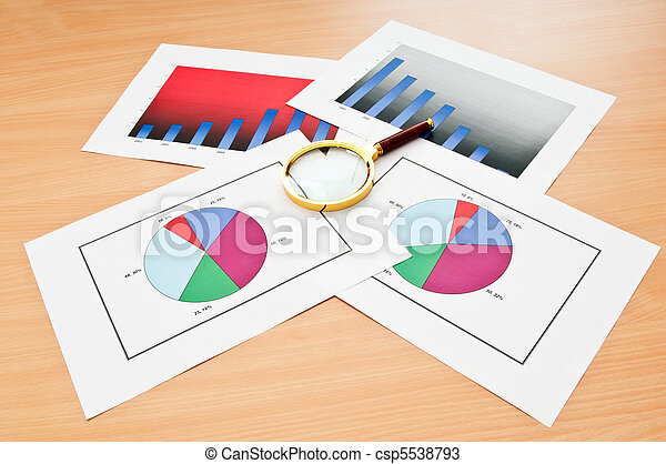 Business concept with charts - csp5538793